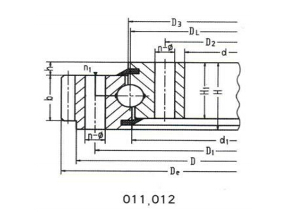 Single-row Four Point Contact Ball Type Slewing Bearing (External gear type)
